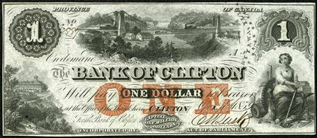1859 Clifton Bank Note