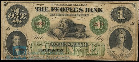 1864 fredericton bank note