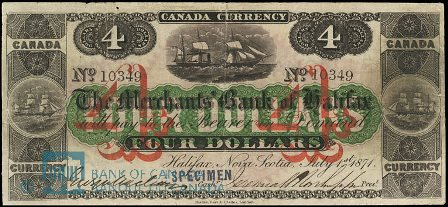 1871 merchants halifax bank note