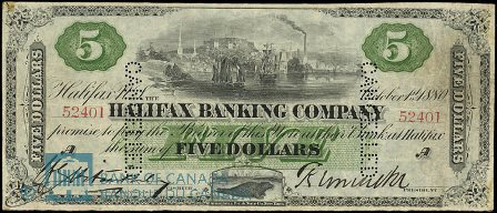 1880 halifax bank note