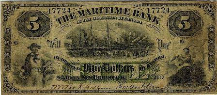 1881 5 maritime bank