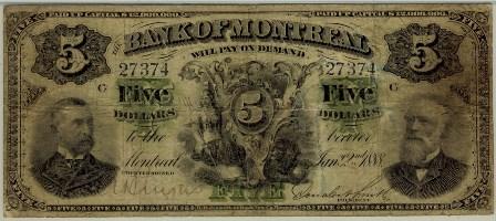 1888 Bank Montreal 5blue