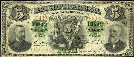 1888 Bank Montreal 5red