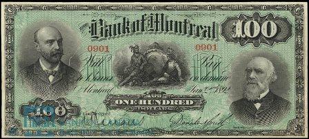 1892 bank montreal 100