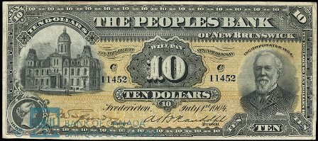 1904 fredericton bank note