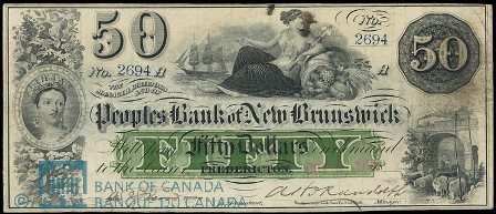 1905 Fredericton bank note