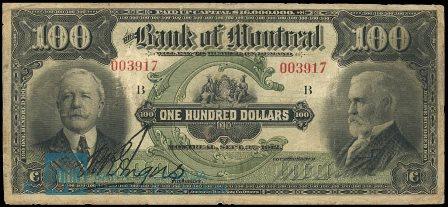 1912 bank montreal 100