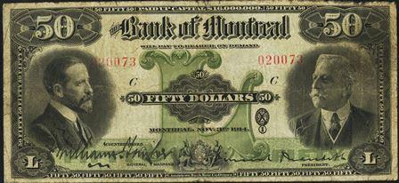 1914 bank montreal 50