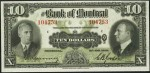 Value of Old Banknotes from The Bank of Montreal, Canada
