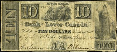 Bank of Lower Canada 10