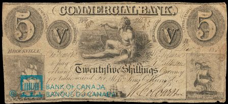 Brockville spurious five dollar bank note