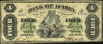 Value of Old Banknotes from The Bank of Acadia of Liverpool Nova Scotia, Canada