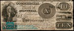 Value of Old Banknotes from The Commercial Bank of Montreal, Canada