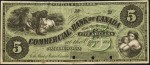 Value of Old Banknotes from The Commercial Bank of Canada in Collingwood