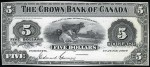 Value of Old Banknotes from The Crown Bank of Canada in Toronto