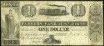 Value of Old Banknotes from The Farmers Bank of St. Johns, Canada