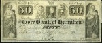 Value of Old Banknotes from The Gore Bank of Hamilton, Canada
