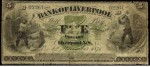 Value of Old Banknotes from The Bank of Liverpool, Canada