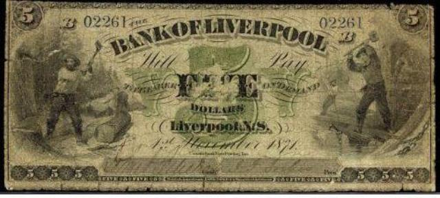 The Bank Of Liverpool Banknote Values Canadian Currency