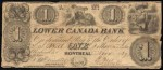 Value of Old Banknotes from The Lower Canada Bank in Montreal