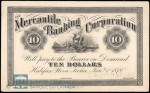 Value of Old Banknotes from The Mercantile Banking Corporation in Halifax, Canada
