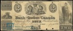 Value of Old Banknotes from The Bank of Quebec, Canada