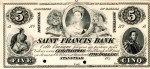 Value of Old Banknotes from The Saint Francis Bank in Stanstead, Canada