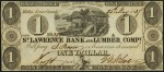 Value of Old Banknotes from The St. Lawrence Bank and Lumber Comp of Malbay, Canada