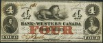 Value of Old Banknotes from The Bank of Western Canada in Clifton