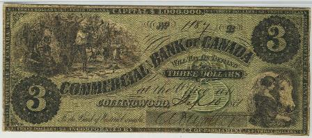 Collingwood three dollar bill