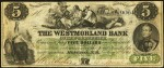 Value of Old Banknotes from The Westmorland Bank of New Brunswick Bend of Petitcodiac, Canada