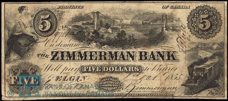 Zimmerman early five dollar note