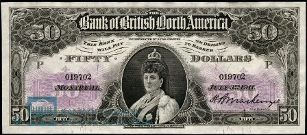 bank british north america 1911 50