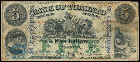 bank of toronto 1880 5