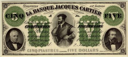 banque jacques cartier 1862