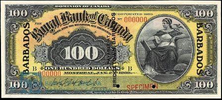 barbados 1909 100