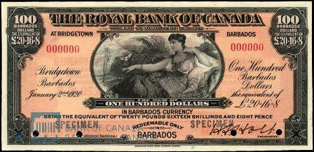 barbados 1920 100