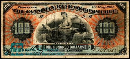 canadian bank 1912 100