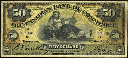 canadian bank 1912 50
