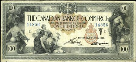 canadian bank 1917 100