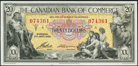 canadian bank 1935 20