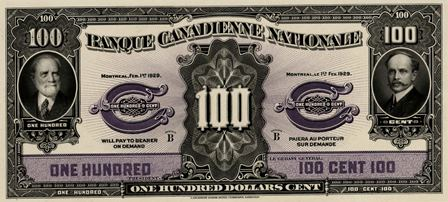 canadienne nationale 1929 100