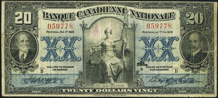 canadienne nationale 1929 20