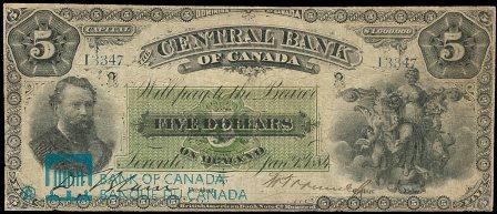 central bank canada 1884 5