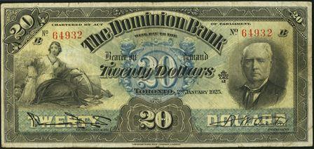 dominion bank 1900s 20