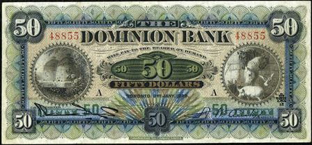 dominion bank 1900s 50