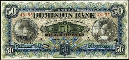 dominion bank 1900s 50