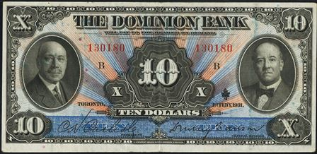 dominion bank 1931 10