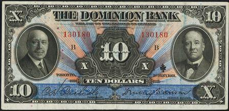 dominion bank 1931 10