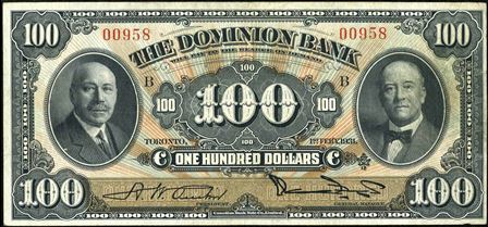 dominion bank 1931 100